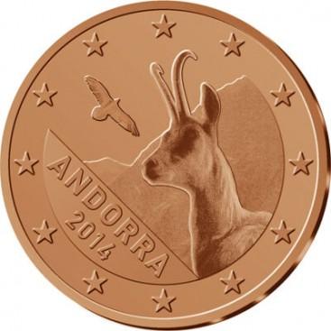 Pièces euro d'Andorre 2014 au détail
