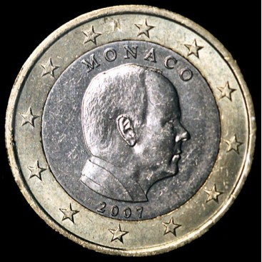 1 Euro monaco 2007 fauté
