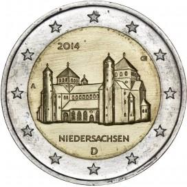 2 Euro ALLEMAGNE 2014 Église Saint Michel de Hildelsheim