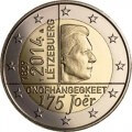 2 euro commémorative Luxembourg 2014