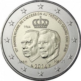 2 euro commemorative Luxembourg 2014 Grand Duc Jean