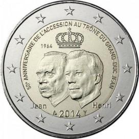 2 euro commemorative Luxembourg 2014 Grand Duc Jean