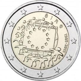 2 Euro Irlande Drapeau
