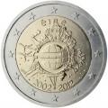 "2€ ""10 ans de l'euro "" Irlande 2012"