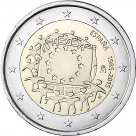 2 Euro Espagne 2015 Drapeau