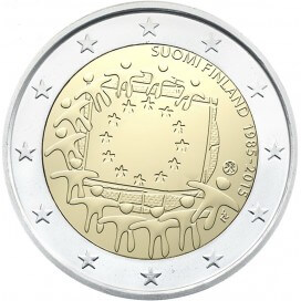 2 Euro Finlande 2015 Drapeau