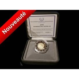 2 Euro BE Chypre 2015 Drapeau