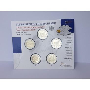 5 x 2 euro Allemagne 2017 BU