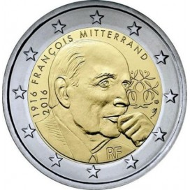 2 Euro France 2016 Mitterrand