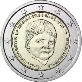2 Euro Belgique 2016 Child Focus