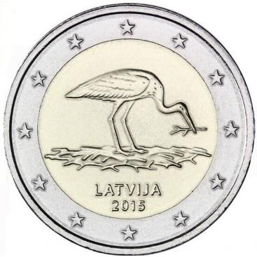 2 euro Lettonie 2015 Cigogne