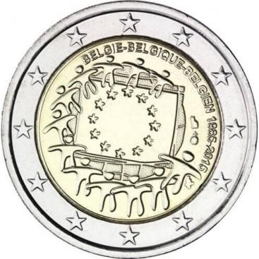 2 Euro Belgique 2015 Drapeau