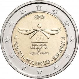 2 Euro BELGIQUE 2008 Droit de l'homme