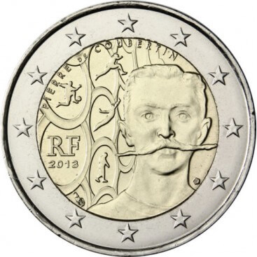 2€ FRANCE 2013 Coubertin