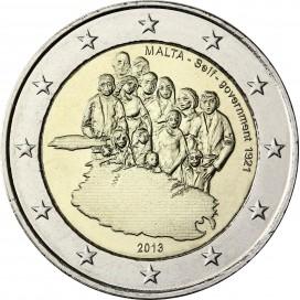 2 Euro Malte 2013 Autonomie Gouvernementale