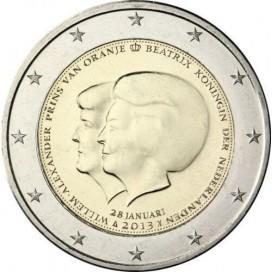 2 Euro Pays Bas 2013 Abdication de la Reine Beatrice