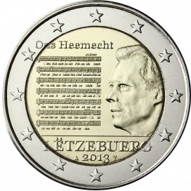2 Euro Luxembourg 2013 Hymne National