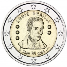 2€ LOUIS BRAILLE Belgique 2009