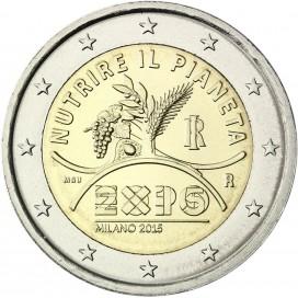 2 Euro Italie 2015 - Exposition de Milan