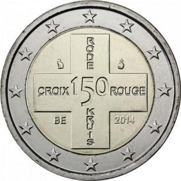 2 euro commémorative Belgique croix rouge 2014
