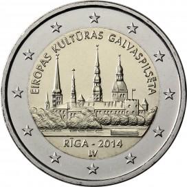 2 Euro LETTONIE 2014 La Capitale Riga