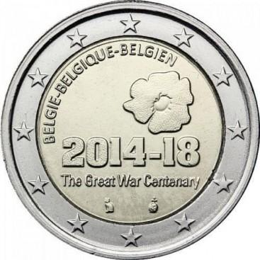 2 euro commémorative BELGIQUE 2014