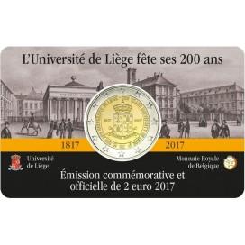 Coincard Francaise 2 Euro Belgique 2017 Université de Liège