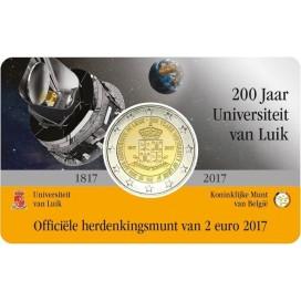 Coincard Flamande 2 Euro Belgique 2017 Université de Liège