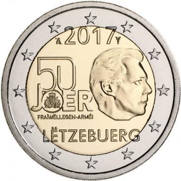 2 Euro Luxembourg 2017 Service Militaire