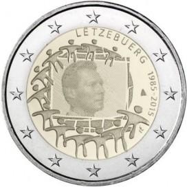 2 Euro Luxembourg 2015 Drapeau