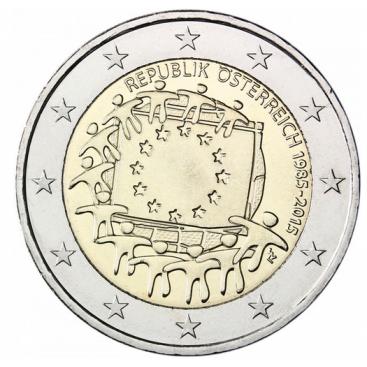 2 Euro Autriche 2015 Drapeau