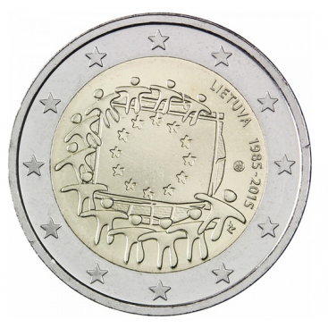 2 Euro Lituanie 2015 Drapeau
