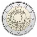 2 Euro Malte 2015 Drapeau
