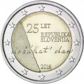 2 Euro Slovénie 2016 Indépendance