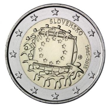 2 Euro Slovaquie 2015 Drapeau