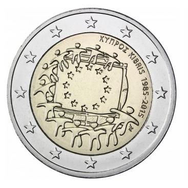 2 Euro Chypre 2015 Drapeau