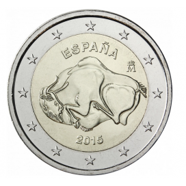2 euro commemorative Espagne 2015 Grotte Altamira
