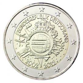 5 x 2 Euro Allemagne 2012-10 ans