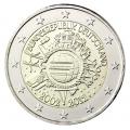 """2 Euro """"10 ans de l'euro Allemagne"""" 2012"""
