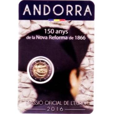 2 Euro Andorre 2016 150 ans de la nouvelle réforme de 1866.