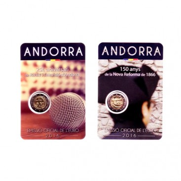 Pack 2 x 2 Euro andorre 2016