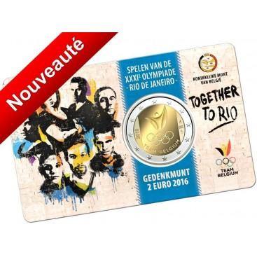 2 Euro Belgique 2016 coincard