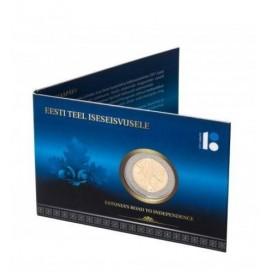 Coincard 2 Euro Estonie 2017 Indépendance