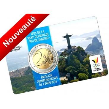 2 Euro Belgique 2016 coincard Francaise