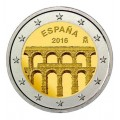 2 Euro Espagne 2016 Aqueduc Segovie