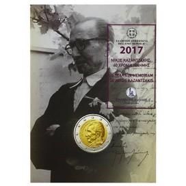 2 Euro Coincard Grèce 2017 Nikos Kazantzakis
