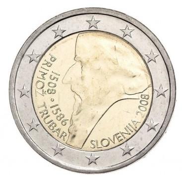 2 Euro slovénie 2008 primoz trubar
