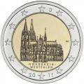 2 Euro ALLEMAGNE 2011 Nord Westphalie