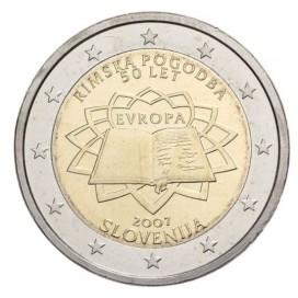 2 Euro slovénie 2007 traité de Rome