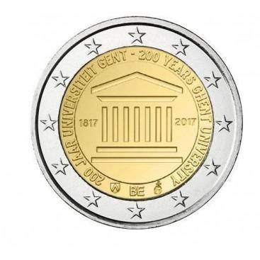 2 Euro Belgique 2017 Université de Gand